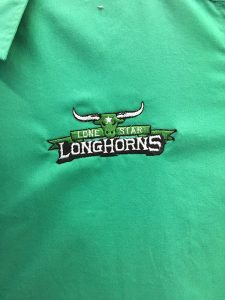 embroidered longhorns