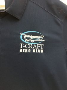 embroidered t craft aero club