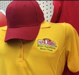 papa johns embroidery